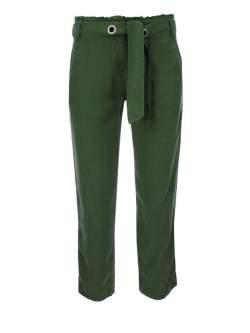 Kalhoty Kenny S. Tencel Green